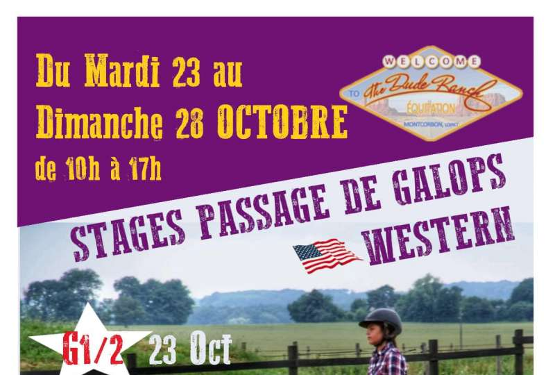 Stage Passage de Galop Western