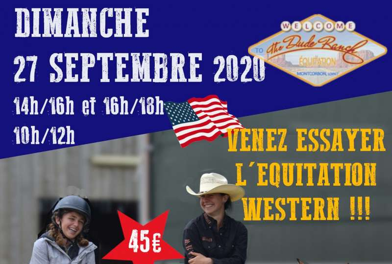 STAGE DECOUVERTE EQUITATION WESTERN